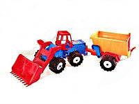 "Трактор ""Шустрик-скрапер"" №1, в сетке 35*19см, ТМ BAMSIC, произ-во Украина (8 шт/уп)(106/1)"