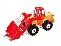 "Трактор ""Шустрик-скрапер"" №2, в сетке 65*19см, ТМ BAMSIC, произ-во Украина (5 шт/уп)(106/2)"