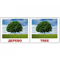 "Карточки мини украинско-английские ""Природа/Nature"" 40 карт., в кул 8*10см, ТМ Вундеркинд(282515)"