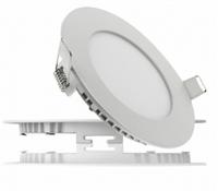 Светодиодный светильник LEDEX круг 6Вт 6500К холодно белый матовое стекло Напряжение: AC100-265В алюминий