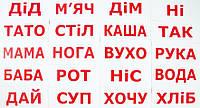 "Карточки большие украинские с фактами ""Читання за Доманом"" 20 слів, в кул. 5*25см, ТМ Вундеркинд(095054)"