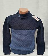 Вязаный свитер для мальчиков синий 116,122,128 роста