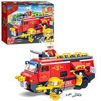 Конструктор BANBAO пожарная машина, фигурки 3шт, 288дет., в кор. 33*24*7см (16шт)(7103)