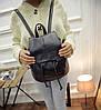 Женский маленький рюкзак кожзам, фото 6