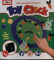 """Набор для творчества """"Toy clock - Зайчья полянка"""", в кор. 21,7*24*5см пр. Украина, ТМ Стратег(12шт)(15S)"""