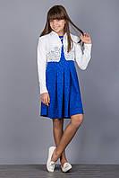 Модное детское платье с пышной юбкой и болеро.128р