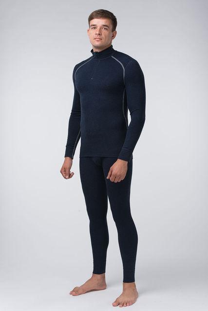 Комплект темно-синий с серой строчкой+змейка