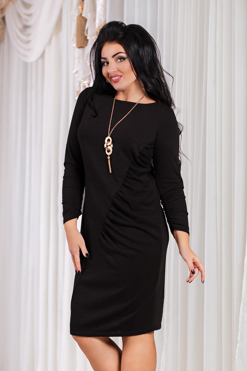 ДТ1089 Элегантное платье с драпировкой