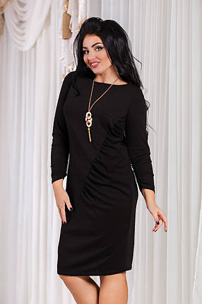 ДТ1089 Элегантное платье с драпировкой, фото 2