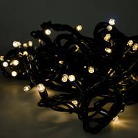 ГИРЛЯНДА НИТЬ, 10 метров -цвет свечения (теплый белый)