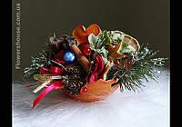 Новогодний, рождественский подарок -ароматная мини композиция