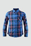 Рубашка для мальчика с длинным рукавом в клетку