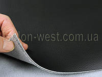 Авто кожзам черный, кожзаменитель на поролоновой подложке с сеткой, фото 1