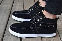 Зимние мужские  ботинки Black ,верх-замш,внутри-овчина ,р-ры 40-44 цвет-черный