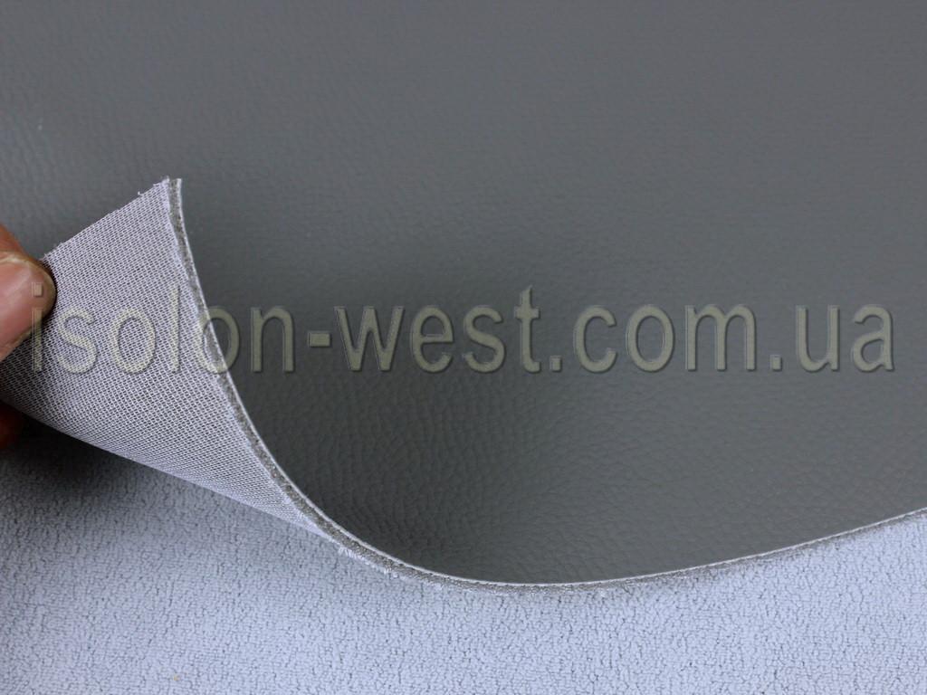 Авто кожзам серый, кожзаменитель на поролоновой подложке с сеткой