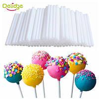 Палочки для кейк попсов белые 50 шт, фото 1