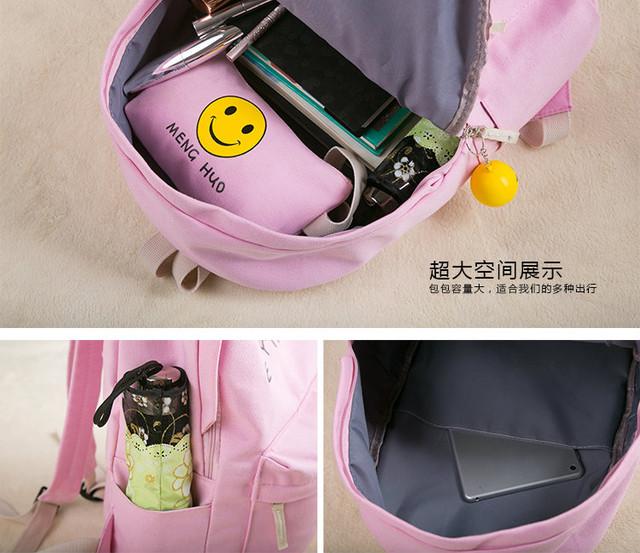 Стильный школьный рюкзак со смайлом