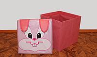 Детский пуфик-корзина для игрушек Зоопарк АВ