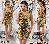 Вечернее платье паетка на трикотажной основе размер 42-48
