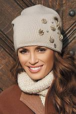 Красивая теплая шерстяная шапка от Kamea 2016 - Clarisa., фото 2