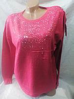 Женский нарядный батальный свитер 52-56 рр