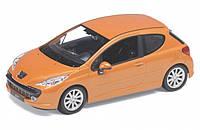 """Машина Welly """"Peugeot 207"""", метал., масштаб 1:24, в кор. 23*11*10см (6шт)(22492W)"""