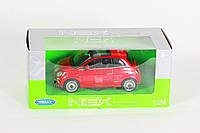 """Машина Welly, """"FIAT 500 2007"""", метал., масштаб 1:24, в кор. 23*11*10см (6шт)(22514W)"""