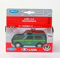 "Машина Welly, ""LADA 4X4 FOREST CONSERVATION"", метал., в кор. 15*6*6см (36шт)(42386FC)"