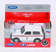 """Машина Welly, """"LADA 4X4"""" МЧС, метал., в кор. 15*6*6см (36шт)(42386RE)"""