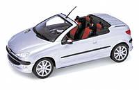 """Машина Welly, """"Peugeot 206 CC"""", метал., масштаб 1:24, в кор. 23*11*10см (6шт)(22413W)"""