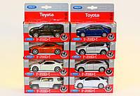 Машина Welly, Toyota, 8 видов, метал., масштаб 1:38, в кор. 14*6*5см (24шт)(49720G-K14-D)