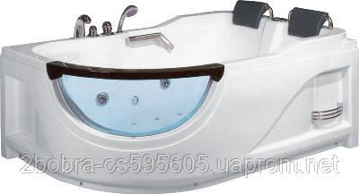 Гидромассажная Ванна Прямоугольная Асимметричная KO&PO 2442 (L/R) | 180х120х68 см., фото 2