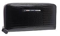 Лаковый женский кошелек 42066 black