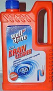 "Средство ""Well Done drain cleaner""  для очистки сливных труб 1000 ml"
