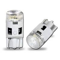 Светодиодная белая (White) автолампа T10 4 3014SMD  (70Lm) crystal cover (Precision)