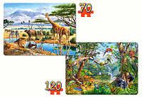 Пазлы Сафари Джунгли, 120 элементов и 70 элементов Castorland  В-021031