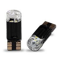 Светодиодная автолампа T10 4 3014SMD(70Lm) crystal cover + Canbus