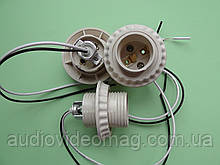 Патрон под плафон для ламп с цоколем Е27 с проводами