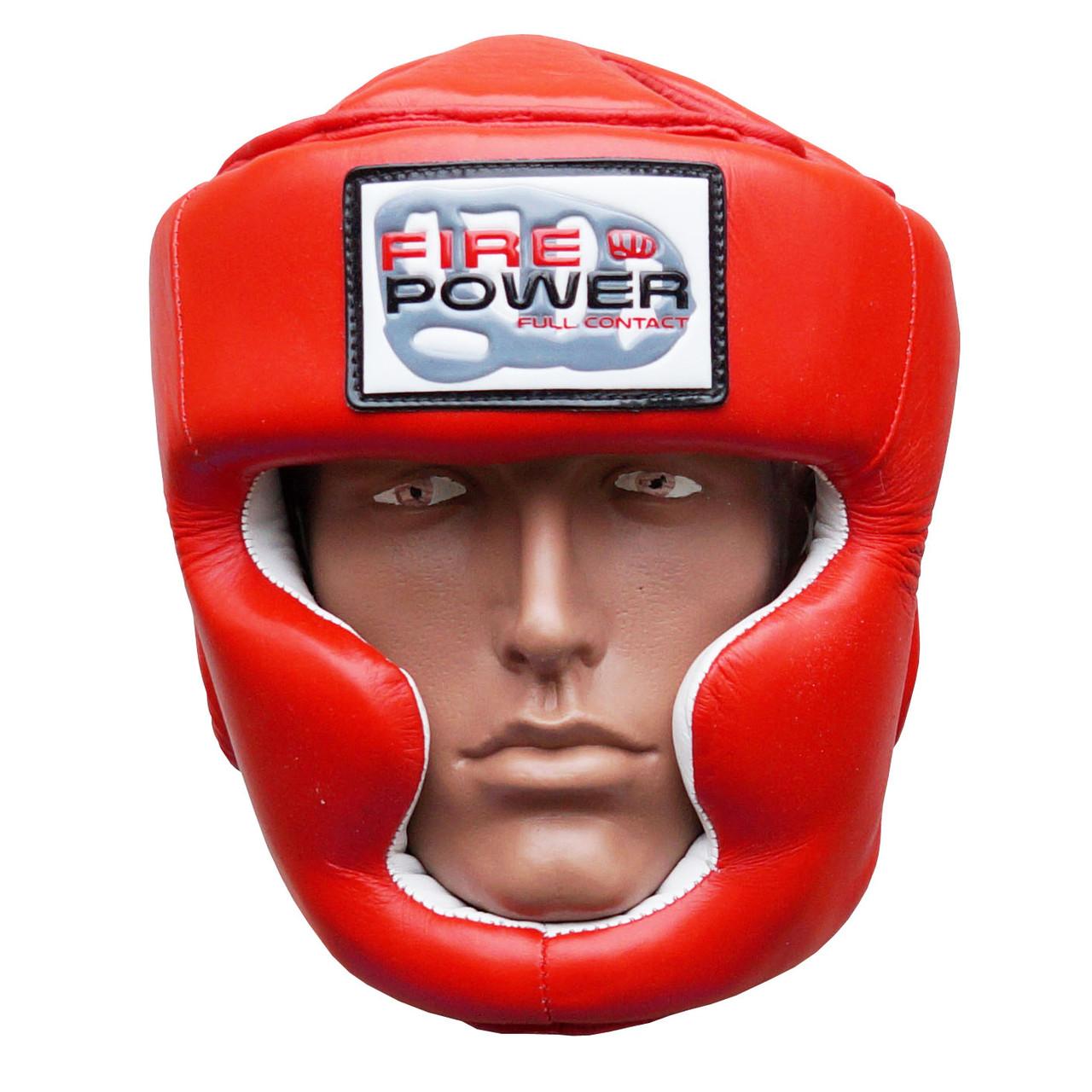 Шлем боксерский для тренировок FIREPOWER FPHG3 Red