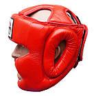 Шлем боксерский для тренировок FIREPOWER FPHG3 Red, фото 2