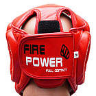 Шлем боксерский для тренировок FIREPOWER FPHG3 Red, фото 3