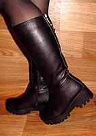 Женские зимние сапоги на толстой подошве