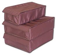 Набор органайзеров с крышками для нижнего белья 3 шт ORGANIZE (амаретто)