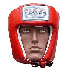 Шлем боксерский FIREPOWER FPHG2 Red