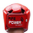 Шлем боксерский FIREPOWER FPHG2 Red, фото 3