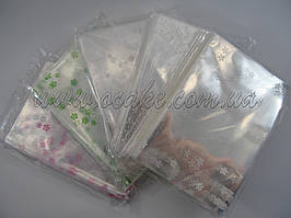 Пакет для упаковки пряников 15х30 с мелким рисунком