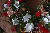 """Новогодний веночек на двери или стол """"Очаровательные тюльпаны"""""""
