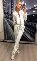 Женский спортивный белый костюм жаккард