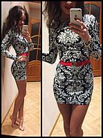Стильное платье принт Орнамент
