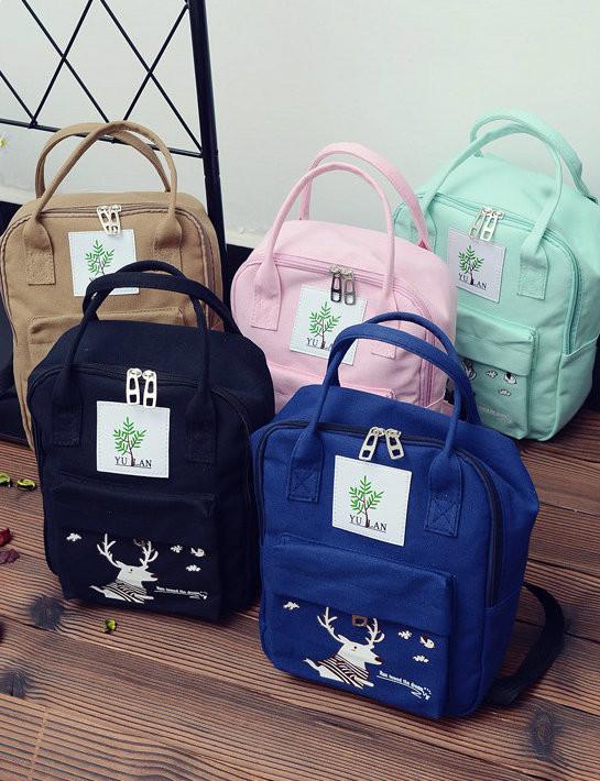 Сумка-рюкзак с модным принтом оленя
